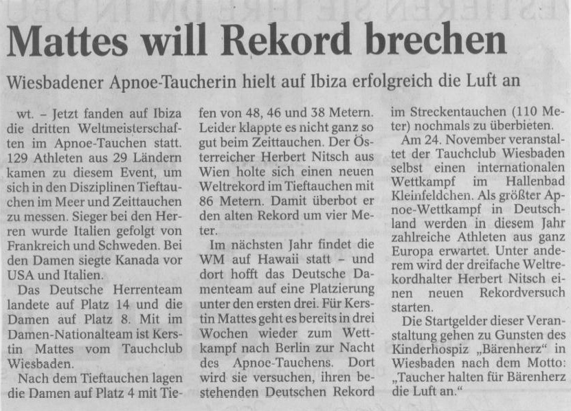 Wiesbadener Tagblatt 2001