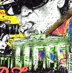 Berlin 1 + 4 als Druck auf Leinwand