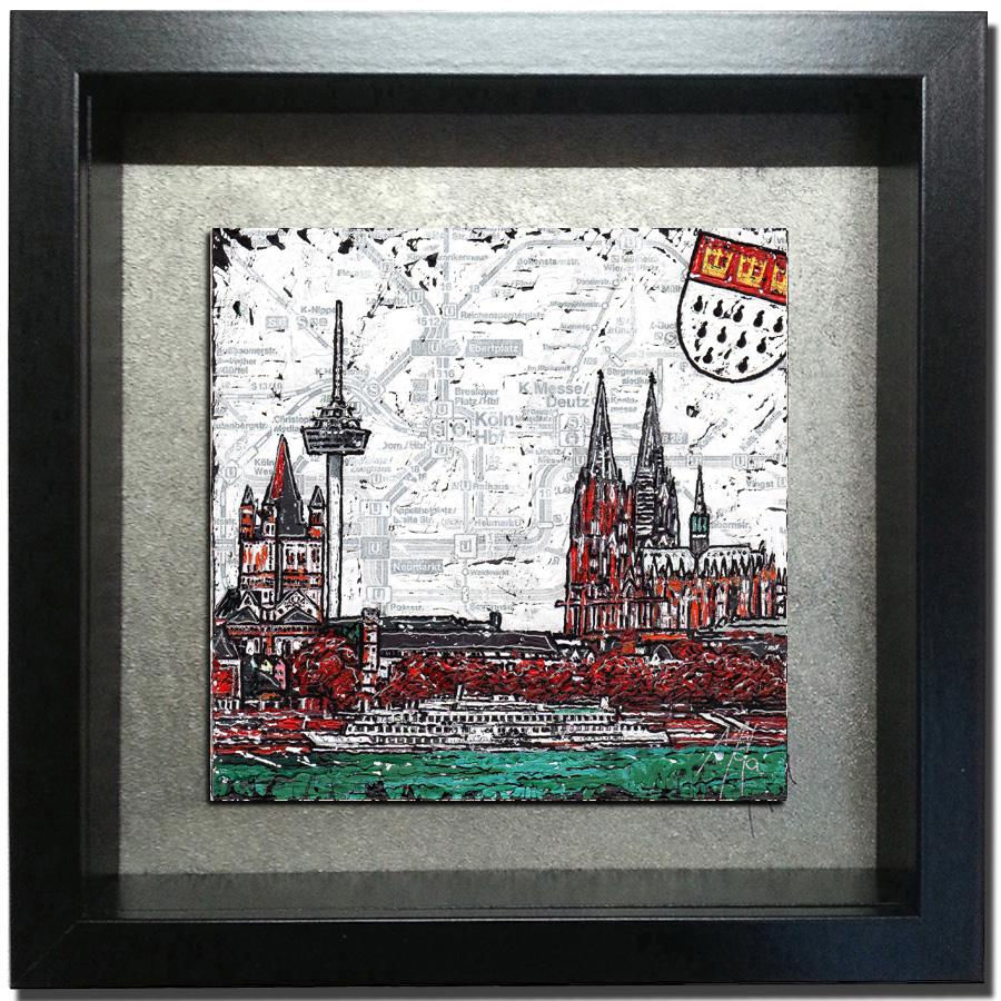 Köln 2- 15x15cm